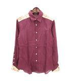 ポールスミスコレクション PAUL SMITH COLLECTION シャツ 長袖 刺繍 リネン ワインレッド系 M ■SM