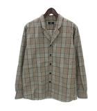 シップス SHIPS ビッグシルエット オープンカラー シャツ ジャケット 111-14-0555 ブラウン系 S ■SM