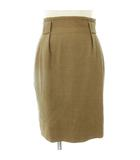 クリスチャンディオール Christian Dior スカート コクーン 膝上丈 ウール コットン 茶系 ブラウン M ■SM