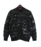 ディーゼル DIESEL ジャケット フライト ブルゾン ジップアップ ボンディング リブ 迷彩 カモフラ 黒 ブラック XS アウター