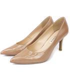 ダイアナ DIANA パンプス エナメル ポインテッドトゥ ベージュ系 23 靴