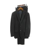 シップス SHIPS Tailoring style スーツ セットアップ テーラードジャケット シングル 2B スラックス ウール 黒 ブラック 46 フォーマル