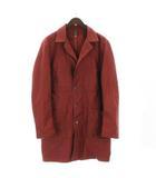 グッドオル GOOD OL' ショップコート  長袖 薄手 アウトステッチ ダブルポケット コットン M 赤 レッド系