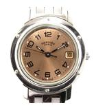 エルメス HERMES クリッパー 腕時計 ウォッチ アナログ クォーツ CL4.210 シルバー ブロンズ  アクセサリー