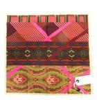 ピエールルイマシア PIERRE LOUIS MASCIA ハンカチ コットン スカーフ 総柄 ピンク ベージュ系 IBO5