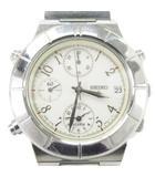 セイコー SEIKO ルキア クロノグラフ 腕時計 クォーツ シルバー 文字盤白 7T32-6K80