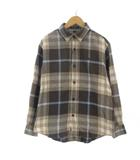 バーバリー ロンドン BURBERRY LONDON シャツ 長袖 ロゴ 刺繍 コットン 茶 ブラウン 160A 子ども服 男女兼用 ECR4