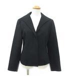 ビアッジョブルー Viaggio Blu ジャケット テーラード ブルゾン 上着 比翼 ウール混 無地 黒 ブラック 2 180213 アウター