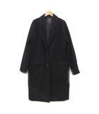 ダブルクローゼット w closet コート チェスターコート ロング 黒 ブラック F 180215 アウター