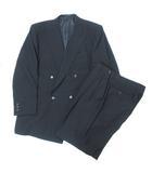 アントニオフスコ ANTONIO FUSCO スーツ セットアップ ブラックフォーマル 礼服 ジャケット ダブル パンツ スラックス タック 102AB8 ブラック ※Y