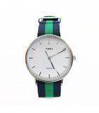 タイメックス TIMEX 腕時計 ウィークエンダー フェアフィールド ナイロンベルト TW2P90800 シルバー 文字盤 ネイビー×グリーン