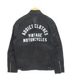 アディクトクローズ ADDICT CLOTHES オイルド ジャケット OILED CLUBMAN JACKET AD-WX-04 38 黒 ブラック