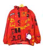 ミズノ MIZUNO ジャケット ブレスサーモジャケット スノボウェア スキーウェア 総柄 フード O レッド ※Y