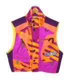 ミズノ MIZUNO コルマール COLMAR ベスト スノボウェア スキーウェア ジャケット 総柄 M パープル オレンジ ※Y