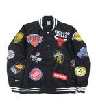 シュプリーム SUPREME ナイキ NIKE NBA Teams Warm-Up Jacket black ウォームアップ スタジャン スタジアムジャンパー ブルゾン 黒 ブラック L