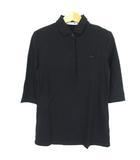 ラコステ LACOSTE ポロシャツ スリムフィット ワンポイント コットン 36 黒 ブラック