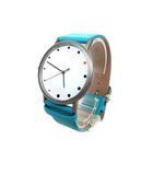 ボッチア BOCCIA 時計 腕時計 チタニウム 防水 3 bar レザーベルト ライトブルー ※Y