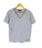 ブルーブルー BLUE BLUE カットソー Tシャツ 半袖 Vネック ワンポイント 刺繍 2 グレー ※Y