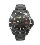 キャリー CALEE × VAGUE WATCH  コラボレートウォッチ 腕時計 自動巻き BLACK CL-18SS001V 黒 ブラック