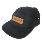 シュプリーム SUPREME Supreme Box Logo wool camp cap キャップ ウール ロゴ レザー 黒 ブラック