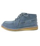 グッチ GUCCI Ankle-High Suede Boat Shoes 255424 デッキシューズ スエード レザー ペールブルー 7