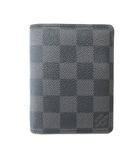 ルイヴィトン LOUIS VUITTON N63096  ダミエグラフィット トリフォルド 財布 札入れ ウォレット 3つ折り 黒 ブラック