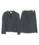 クリッツィア KRIZIA スカートスーツ セットアップ 薄手 コットン 3B ジャケット スカート 40 黒 ブラック