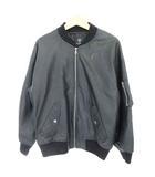 ダブルクローゼット w closet フェイクレザー ジャケット ブルゾン ジップアップ リブ F 黒 ブラック