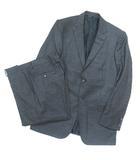 エルメネジルドゼニア Ermenegildo Zegna スーツ セットアップ ウール ストライプ グレー 48 UD0106