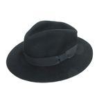 フリーズマート Free's Mart ハット 中折れ帽子 ソフト帽 リボン ウール FR ブラック ※Y