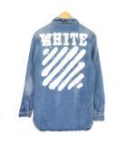オフホワイト OFF WHITE DIAG SPRAY DENIM SHIRT シャツ ジャケット ダイアゴナル スプレー デニムジャケット  インディゴ XS