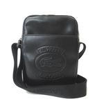 シュプリーム SUPREME LACOSTE 18SS Shoulder Bag Black ショルダーバッグ レザー 黒 ブラック