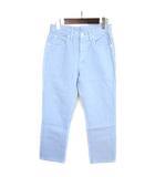リー LEE RIDERS デニム パンツ テーパード ジッパーフライ S 水色 ブルー