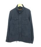 ウールリッチ WOOLRICH ジャケット スタンドカラー ジップアップ ストライプ コットン ロゴ刺繍 L ダークグレー IBS28