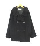 マックスマーラ MAX MARA ピーコート Pコート ウールジャケット 黒 ブラック 40IBS28