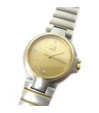 ダンヒル dunhill 腕時計 ウォッチ クォーツ 4P ダイヤ シルバー ゴールド