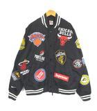 シュプリーム SUPREME ナイキ NIKE NBA Teams Warm-Up Jacket black ウォームアップ スタジャン スタジアムジャンパー ブルゾン 黒 ブラック M