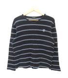 ブラックレーベルクレストブリッジ BLACK LABEL CRESTBRIDGE Tシャツ カットソー ボーダー ロゴワッペン コットン 長袖 3 黒 紺 白