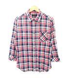 ボイコット BOYCOTT シャツ チェック 7分袖 コットン 4 赤 紺 白 茶
