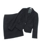 ナラカミーチェ NARA CAMICIE スーツ セットアップ ジャケット テーラード スカート タイト ひざ丈 ラメ 黒 ブラック