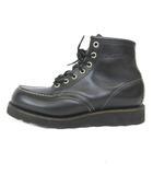 レッドウィング REDWING 8137 刺繍羽タグ アイリッシュセッター ブーツ モックトゥ ブラックソール 黒 ブラック 6.5 D IBS41