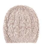 ヘレンカミンスキー HELEN KAMINSKI ニット帽 帽子 ニットキャップ ワッチ ケーブル カシミヤ プレート ブラウン ONE SIZE IBS43