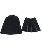 アニエスベー agnes b. ENFANT セットアップ ジャケット スカート スウェット コットン ブラック 12  IBS43