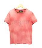 ダブルアールエル RRL ラルフローレン Tシャツ カットソー ヴィンテージ ロゴ NY プリント 半袖 コットン ピンク系 S