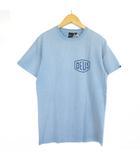 デウスエクスマキナ DEUS EX MACHINA Tシャツ カットソー 半袖 ロゴ ブルー XS ■NY