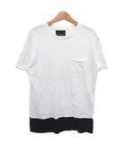 ナンバーナイン NUMBER (N)INE Tシャツ カットソー 半袖 クルーネック コットン 白 黒 M ■VG