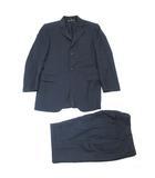 ドルチェ&ガッバーナ ドルガバ DOLCE&GABBANA スーツ セットアップ ストライプ  シングル 2B ウール ネイビー 46