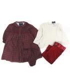 ラルフローレン RALPH LAUREN ベビー 子ども服 セット 女の子 カットソー パンツ ワンピース 赤 白 12M 80cm IBS57