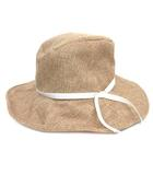 ナチュラルビューティーベーシック NATURAL BEAUTY BASIC ストローハット リボン 帽子 ベージュ FR