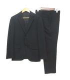 タケオキクチ TAKEO KIKUCHI Sculpture スーツ セットアップ シングル 2B ウール 黒 IBS57